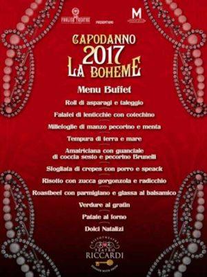 Buffet Capodanno Teatro Riccardi