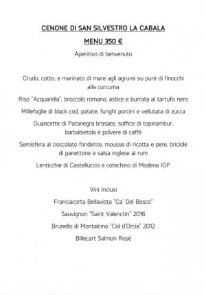 menu cabala