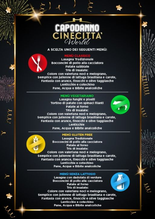 menu buffet cinecitta world